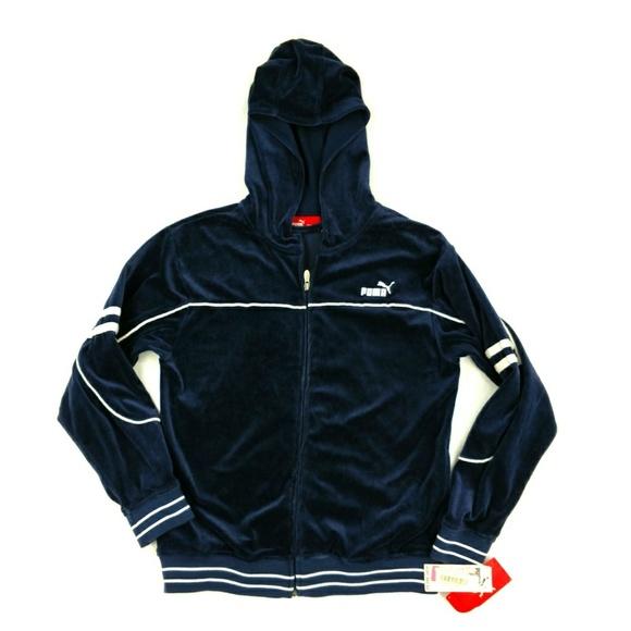 625a0b1b3801 PUMA New Navy sport sweater jacket hoodie Large